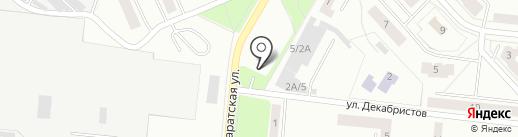 Автостоянка на Паратской на карте Зеленодольска
