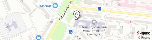 Зеленодольский механический колледж на карте Зеленодольска