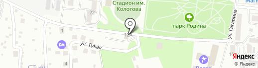 Автостоянка на Тукая на карте Зеленодольска