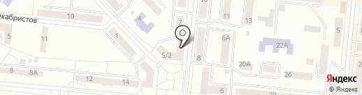 Магазин фруктов и овощей на карте Зеленодольска