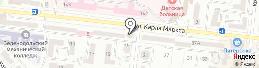Лана, салон штор на карте Зеленодольска