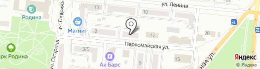Сэлмон на карте Зеленодольска