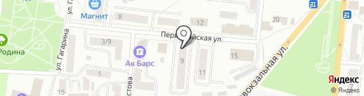 Адмиральский на карте Зеленодольска