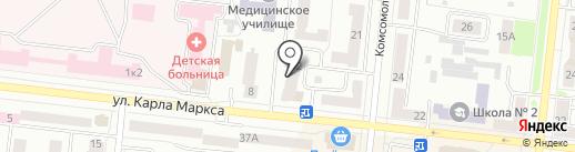 Орхидея на карте Зеленодольска