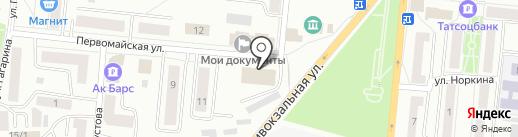 СДЮШОР №1 по спортивной гимнастике на карте Зеленодольска