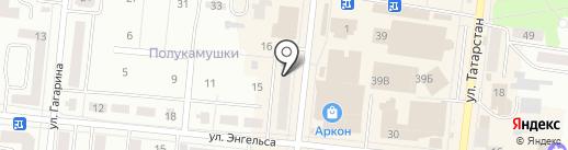 Венерия на карте Зеленодольска
