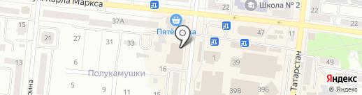 Булетуда на карте Зеленодольска