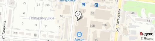Равиль на карте Зеленодольска