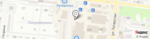 Мастерская по ремонту одежды на карте Зеленодольска