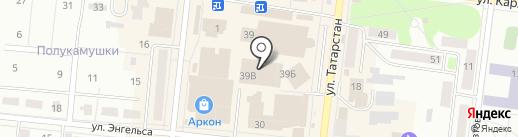 Айсылу на карте Зеленодольска