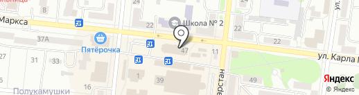 Банк ВТБ 24 на карте Зеленодольска