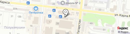 Билайн на карте Зеленодольска