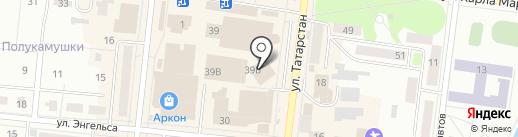 Магазин пряжи на ул. Карла Маркса на карте Зеленодольска