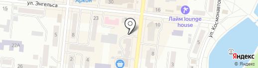 Идель на карте Зеленодольска