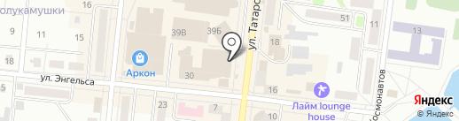 Спутник+ на карте Зеленодольска