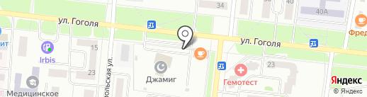 Автостоянка на ул. Гоголя на карте Зеленодольска