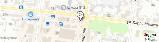 Сластена на карте Зеленодольска