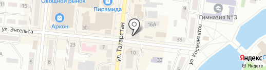 АКБ Энергобанк на карте Зеленодольска