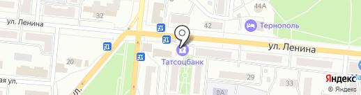 Татсоцбанк на карте Зеленодольска