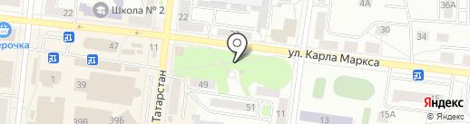 Часовня на карте Зеленодольска
