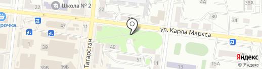 Часовня на ул. Карла Маркса на карте Зеленодольска