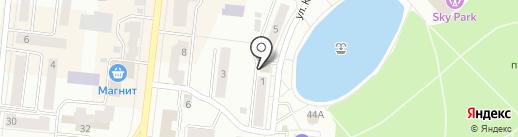 Магазин молочной продукции на ул. Космонавтов на карте Зеленодольска