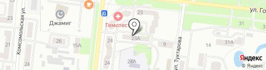 Яшел Узен на карте Зеленодольска