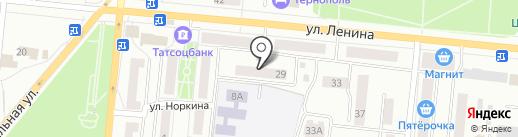ИК Банк на карте Зеленодольска