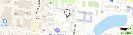 Гюль на карте Зеленодольска