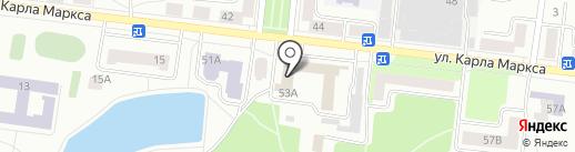 Зеленодольский почтамт на карте Зеленодольска