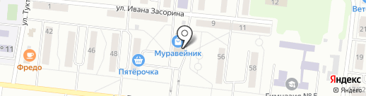 Сильва на карте Зеленодольска