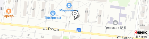 Алан на карте Зеленодольска