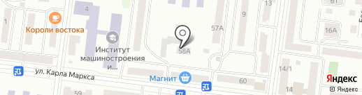 Аванград на карте Зеленодольска