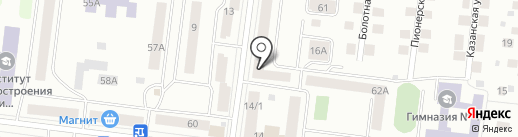 Бристоль на карте Зеленодольска
