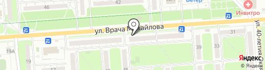 Лилия на карте Ульяновска
