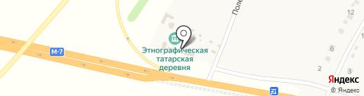 Татар авылы на карте Исаково