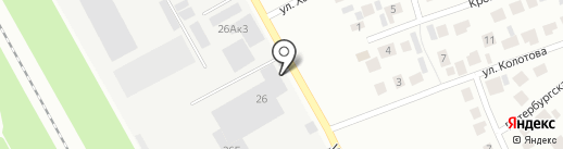 Яркий на карте Зеленодольска