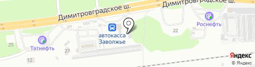 Форсаж-М на карте Ульяновска