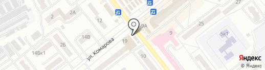 Бистро на ул. Комарова на карте Зеленодольска