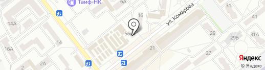 Магазин разливных напитков на ул. Комарова на карте Зеленодольска