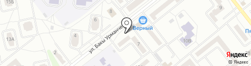 Слойка на карте Зеленодольска