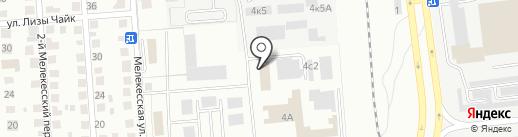 Штрафная стоянка на карте Ульяновска