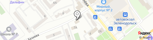 Магазин джинсовой одежды на карте Зеленодольска