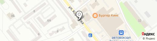 Магазин одежды на карте Зеленодольска