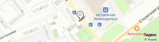 Детская библиотека №4 на карте Зеленодольска