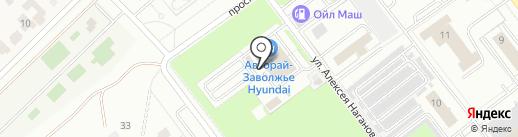 Авторай-Заволжье на карте Ульяновска