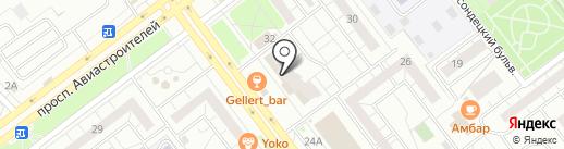 Банкомат, НБ Траст, ПАО на карте Ульяновска