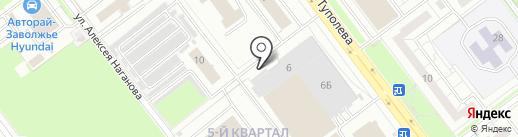 Автообувь на карте Ульяновска