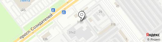 Эскорт-авто на карте Ульяновска