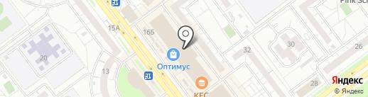 Юничел на карте Ульяновска